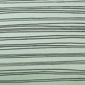 GOTS Soft Sweat Jersey Fabric Stripe 225GSM Green 150cm