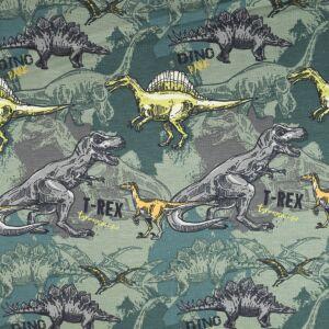 T-Rex Jersey Fabric 200GSM Green 145cm