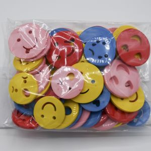 Bag of Shaped Buttons Emoji Assorted 100g