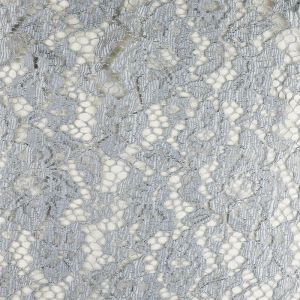Corded Lace Fabric Silver 146cm