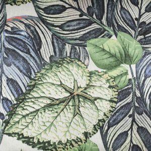 Tropical Leaves Digital Print Canvas Fabric Green 147cm