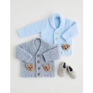 Snuggly Snowflake Chunky 50g Shawl Collar V Neck Cardigan 5404 Birth - 1 Year