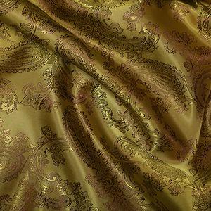 Paisley Poly Viscose Jacquard Fabric 20 Mustard 146cm
