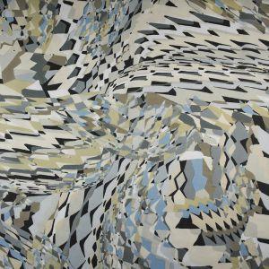 Abstract Chiffon Fabric Beige 148cm