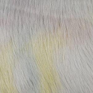 Luxury Rainbow Faux Fur Fabric Pastel 148cm