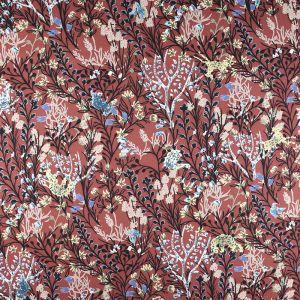 Tropical Print Polyester Fabric Tan 150cm