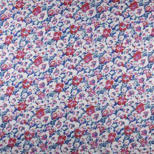 Floral Cotton Voile Fabric Blue Pink 148cm