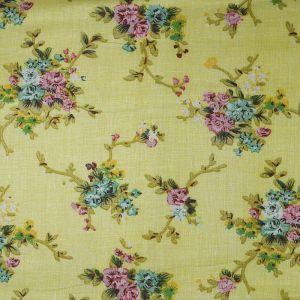 Floral Cotton Voile Fabric Lemon 148cm