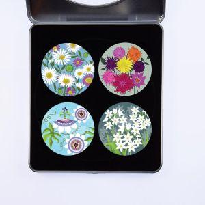Pattern Weights 4 pack Flowers Set B Multi 50mm x 5mm x 75g