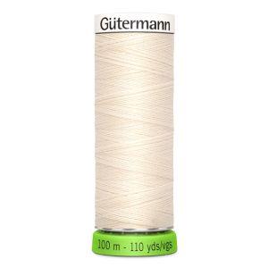 Gutermann rPET 100% Recycled Sew All Thread Cream 100mts
