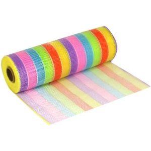 Deco Mesh 270 Pastel Rainbow 25cm