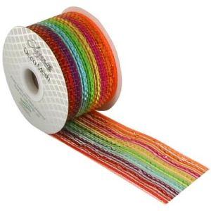 Deco Mesh 271 Pastel Metallic Rainbow 63mm