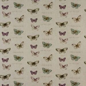 Butterfly PVC Oilcloth Fabric Linen 132cm