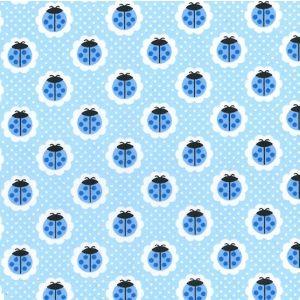 Ladybird Poly Cotton Blue 112cm