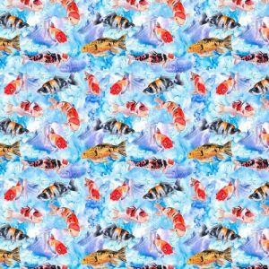 Sealife 1 Craft Cotton Fabric Multi 140cm