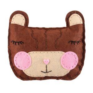 My First Sewing Kit Felt Teddy Bear Cushion