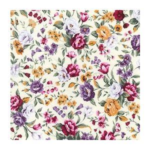 Floral Cotton Poplin Purple 112cm