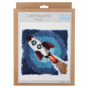 "Trimits Latch Hook Kit Rocket Assorted 30.5x30.5cm 12""x12"""