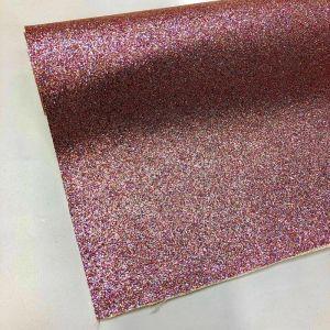 Fine Glitter PU Backed Fabric 31 Pink 140cm
