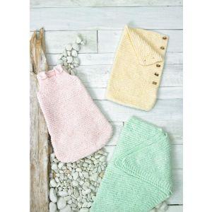 James C Brett Baby Velvet Chunky Pattern Sleeping Bag and Shawl JB693