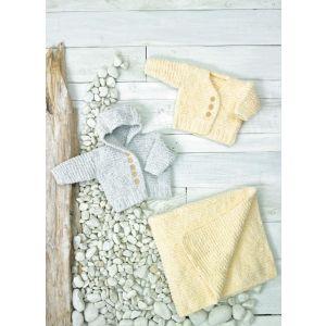 James C Brett Baby Velvet Chunky Pattern Cardigans and Blankets  JB696