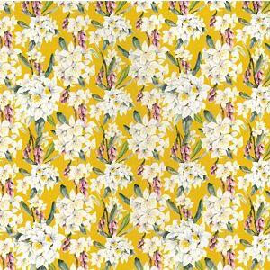 Flowers & Buds Digitally Printed Cotton Mustard 150cm