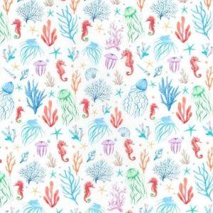 Under the Sea Digitally Printed Cotton Multi 150cm