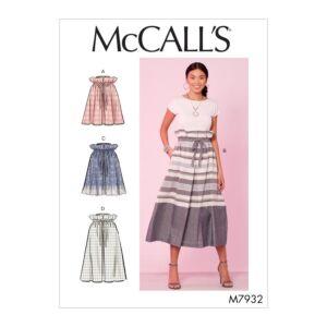 McCalls Sewing Pattern Misses Skirts M7932Z L-XL