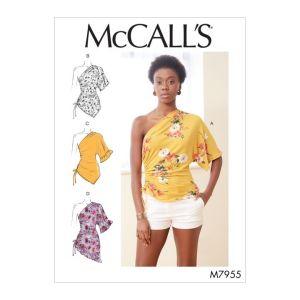 McCalls Sewing Pattern Misses Tops M7955Z L-XL