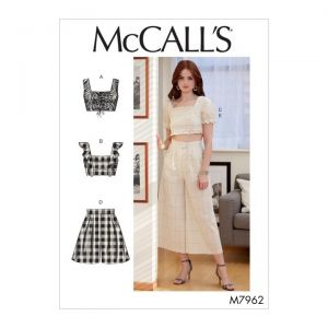 McCalls Sewing Pattern Misses Tops Shorts and Pants M7962AX5 4-12