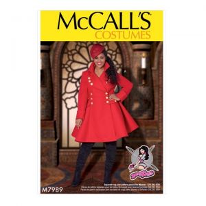 McCalls Sewing Pattern Womens Costumes M7989RR 18W-24W