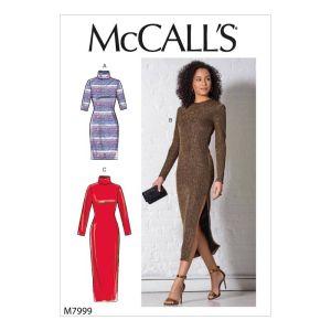 McCalls Sewing Pattern Misses Dresses M7999A XS-XL