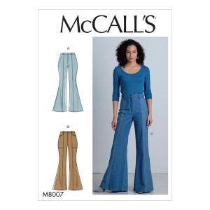 McCalls Sewing Pattern Misses Pants  M8007A5 6-14