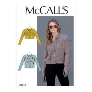 McCalls Sewing Pattern Misses Jackets M8011Z L-XL
