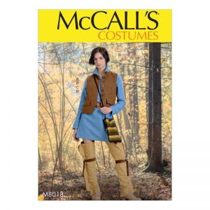 McCalls Sewing Pattern Misses Costume M8018XY S-L