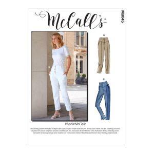 McCalls Sewing Pattern Abbie Misses Pants M8045A5 6-14