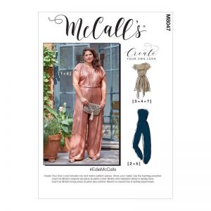 McCalls Sewing Pattern Edie Romper Jumpsuit and Sash M8047RR 18W-24W