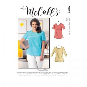 McCalls Sewing Patterns Misses Womens Pullover Tops and Tunics M8059B5 8-16