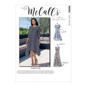 McCalls Sewing Patterns Misses Straight Handkerchief or High Hem M8062Y XS-M