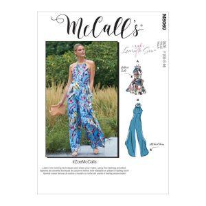 McCalls Sewing Patterns Misses Romper Jumpsuits and Belt M8069Y XS-M