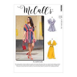 McCalls Sewing Pattern Misses Dress  M8084A XS-XL