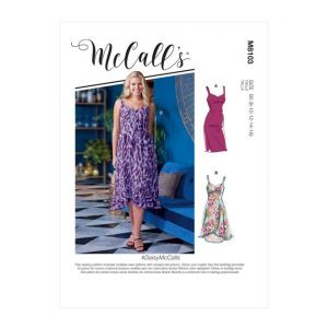 McCalls Sewing Pattern Misses and Womens Dresses M8103RR 18W-24W