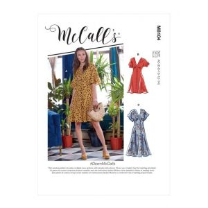 McCalls Sewing Pattern Misses Dresses M8104A5 6-14