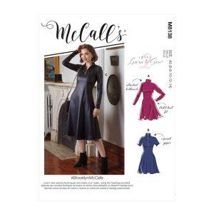 McCalls Sewing pattern Brooklyn Misses Dresses M8138F5 16-24