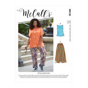McCalls Sewing Pattern Cheryl Womens Shirt Top Skirt Pants M8159RR 18-24