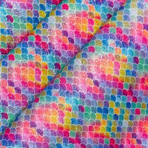 Mermaid Glitter PU Backed Fabric Carnival 140cm