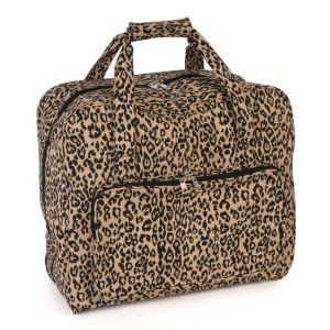 Sewing Machine Bag Leaopard Brown Black Beige 20x43x37cm