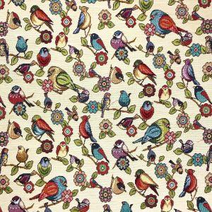 Birds Tapestry Fabric Multi 140cm