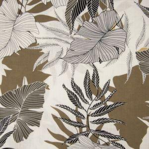 Leaves Print Viscose Fabric 054 Brown 140cm