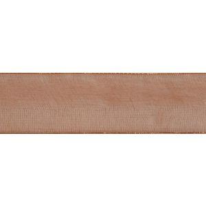 Reel of Organdie Ribbon Code A Tan 6mm x 8m
